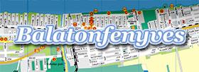 Balatonfenyves letölthető térképe